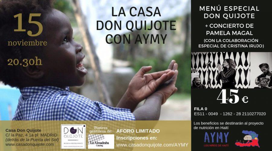 La Casa Don Quijote con la Fundación AYME.